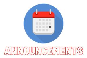 Announcements – 17 Jan 21